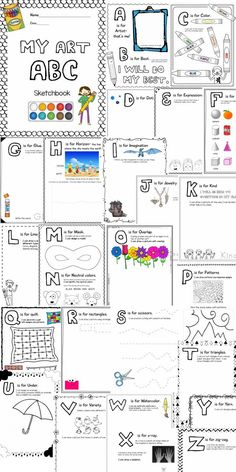 ABC Art Sketchbook for Kindergarten and 1st Grade: Plus one FREE DOWNLOAD
