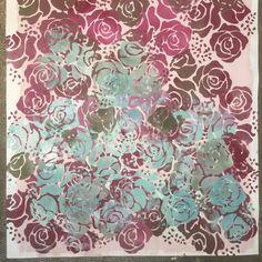 Annie Sloan   Techniques   Annie Sloan Roses Stencil -- sooo cute for chairs
