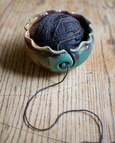 yarn bowl by redhotpottery, via Flickr