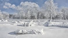 Frozen Niagara Falls | The frozen mist from Niagara Falls coats the landscape around Prospect ...