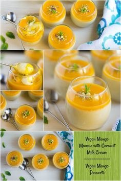 Vegan Mango Mousse with Coconut Milk Cream