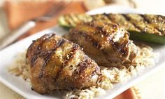 Mazola Recipe - Roasted Garlic and Herb Marinated Chicken Thighs and Summer Squash