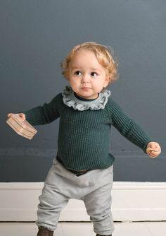 1702 Smårollinger. Strikket Kragegenser Knitting Needles, Baby Knitting, Baby Jumpsuit, Jumpsuit Pattern, Baby Alpaca, Mulberry Silk, Comfortable Outfits, Turtle Neck, Pure Products