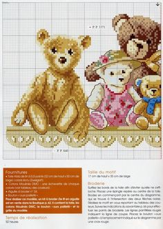 Bear collection page 1 of 2 Cross Stitch For Kids, Cute Cross Stitch, Cross Stitch Animals, Cross Stitch Designs, Cross Stitch Patterns, Cross Stitching, Cross Stitch Embroidery, Stitch Toy, Cross Stitch Pictures