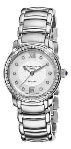 Women's Wrist Watches - Frederique Constant Womens FC303WHD2PD6B Ladies Automatic MotherOfPearl Diamond Dial Watch *** Learn more by visiting the image link.