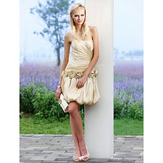A-line+Sweetheart+Short+Mini+Taffeta+Wedding+Dress++–+USD+$+119.99