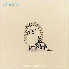 1,426 отметок «Нравится», 12 комментариев — なみはりねずみ (@namiharinezumi) в Instagram: «893 眠たいの… I'm sleepy. #illustration #hedgehog #イラスト #ハリネズミ #なみはりねずみ #illustagram»