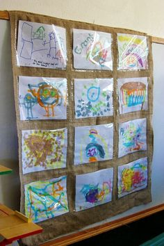 How to display kids artwork school classroom, classroom design, classroom decor, reggio classroom Reggio Classroom, Classroom Displays, Classroom Design, Classroom Decor, Preschool Classroom, Reggio Emilia, Displaying Childrens Artwork, Burlap Art, Artwork Display