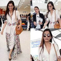 While Aishwarya Rai Bachchan effortlessly slays on the red carpet at Cannes 2016 another Bollywood diva has just arrived in the French Riviera gearing up for her moment at the prestigious film festival. You got that right! Sonam Kapoor made a glamorous entry at the airport as she was spotted in an Anamika Khanna ensemble. Crowded by the French paparazzi the actress smiled her way out of the arrival gates. And now we can't wait to see what she's got in store for us for her sixth year at the…