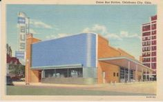 Regarding OKC's old Union Bus Station: It was torn down this past summer; however, the sign and as much of the blue Vitrolite tiles as possible will be preserved in the new structure that will go up on the site. | Art Deco Architecture | Bloglovin