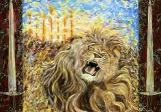 Jennifer Hunter Jones prophetic artist   Animals/ creatures around the throne..The Day of the Lord