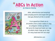 The fun comes as children are challenged to match the images to the prose. ABC's in Action can be enjoyed as a picture book, an interesting read and loads of fun for a parent and child to read together or alone.