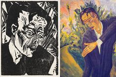 Bowie's interest in German Expressionism and the culture of Weimar took in the work of artist Erich Heckel. His 1917 painting and woodcut of the character 'Roquairol' directly influenced the cover of 'Heroes' and Iggy Pop's 'The Idiot'.