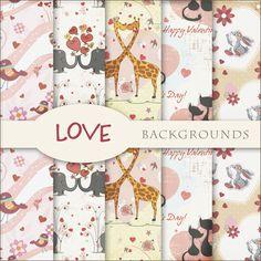 Scrap. DOT: Freebies Kit - Love Backgrounds