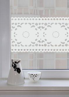White Windowsticker Lace from Studio Haikje #window stickers #decorate your window #stylish window stickers #Lace