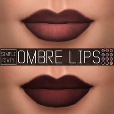 Simpliciaty: Ombre lips • Sims 4 Downloads