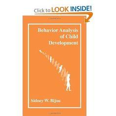 Behavior Analysis of Child Development