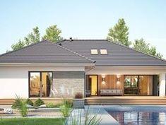 DOM.PL™ - Projekt domu FA Nela VI CE - DOM GC7-26 - gotowy koszt budowy House Blueprints, Design Case, House Plans, Outdoor Decor, Houses, Home Decor, Homes, Decoration Home, House Plans Design