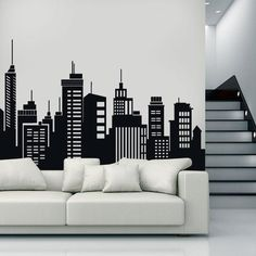 Effects Living Room Paint Ideas 2018 Wall Art Designs, Wall Design, House Design, Bedroom Wall, Bedroom Decor, Wall Painting Decor, Interior Decorating, Interior Design, Office Interiors