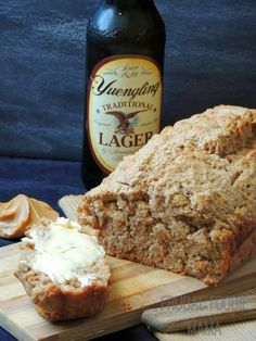 Homemade Peanut Butter Beer Bread via thefrugalfoodiemama.com