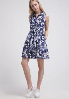 Louche - ELISHA - Sukienka koszulowa - blue/white