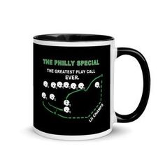 Philly Philly!  Add a splash of color to your morning coffee or tea ritual! These ceramic mugs not only have a beautiful design on them, but also a colorful rim, handle, and inside, so the mug is bound to spice up your mug rack.