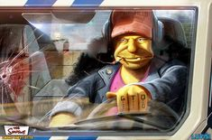 Grand Theft Otto Your Favorite Cartoon Characters Reimagined As Psycho Killers Will Ruin Your Childhood (Photos) Evil Cartoon Characters, Simpsons Characters, Pixar Characters, Childhood Characters, Cartoon Crossovers, Wall E, Art Of Dan, Icona Pop, Cartoons