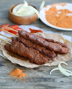 Suya - Roast African spicy skewered beef – An irresistible beef Satay with Spicy Peanut Spice Blend – the epitome of West African Street food.
