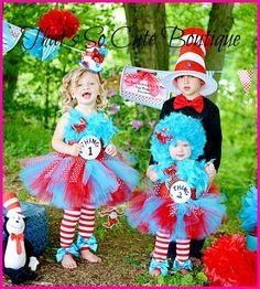 Thing 1 and Thing 2 Tutu Dress  sc 1 st  Pinterest & Tutu Skirt - Halloween or Birthday Costume - Red Turquoise - Thing 1 ...