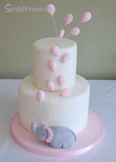 Elephant Baby Shower Cake Ideas | One of my most popular posts was an elephant inspired baby shower cake ...