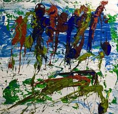 Youngest Canadian to Win the Anokhi Award. Beautiful abstract painting by emerging artist, autism artist, autistic artist, Niam Jain autism artist: at 14  Niam expresses his thoughts & feelings through art.  His art is sold to private collectors all over the world. As seen on Global News, CBC news, Samsung Canada    Art Enthusiast says he paints like a seasoned  painter