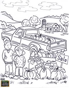 Free teaching tool - printable Agricultural coloring page for kids…