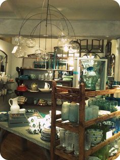 Anthropologie Display in KC    Sixpence & A Blue mOOn