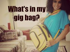Coffee talk: what's in my gig bag? ~ Free belly dance classes online with Tiazza Rose