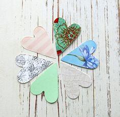 folk hearts / sizzix hearts / die cut hearts / by itsaMessyNest