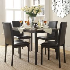 Good Darcy Faux Marble Top Metal 5 Piece Casual Dining Set By INSPIRE Q Bold By  INSPIRE Q
