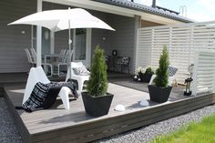 outside living - white, grey, black Outdoor Rooms, Outdoor Gardens, Outdoor Living, Outdoor Decor, Patio Pergola, Backyard Landscaping, Pergola Kits, Outside Living, Terrace Garden