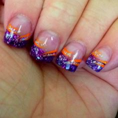 Tiger stripe nail art perfect for tournament time neat gel nail art designs for summer 2015 prinsesfo Image collections