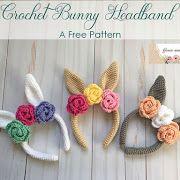 Favorite Crochet Ideas Crochet Bunny Headband - A Free Pattern Crochet Eyes, Crochet Girls, Easter Crochet, Crochet For Kids, Crochet Yarn, Free Crochet, Crochet Headbands, Crochet Clothes, Newborn Crochet Patterns