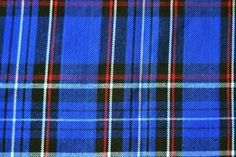 Tissu écossais carreaux bleu au mètre