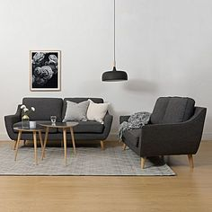 Complement your modern home with the chic curvatures of the mid-century modern Ebba 2 Seater Sofa, Dark Grey from Zanui. 2 Seater Sofa, House Goals, Dark Grey, Mid-century Modern, Minimalist, Living Room, Interior Design, Chair, Barnsley