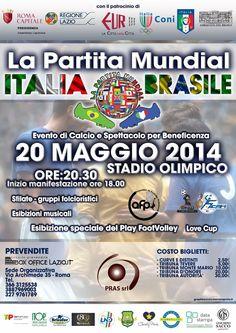 """Stadio Olimpico di Roma: """"La Partita Mundial"""", un evento di calcio e spettacolo per beneficenza"""