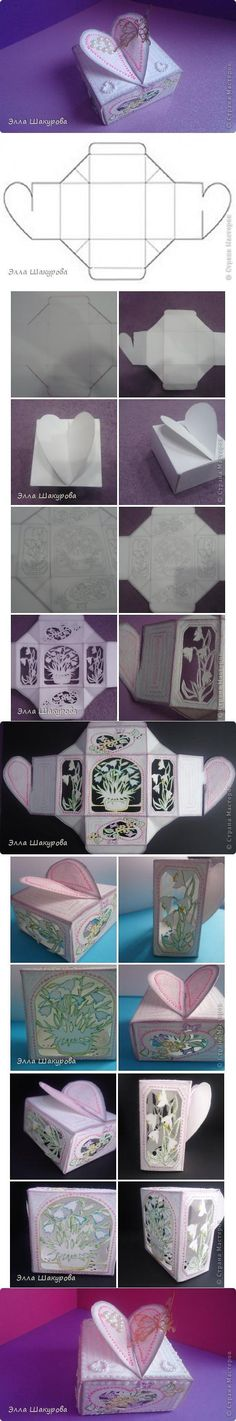 Shoebox Crafts : DIY Single Sheet Heart Box
