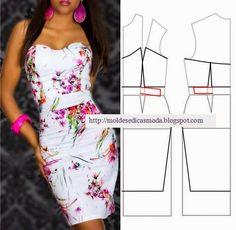 Moldes de moda para Medida: VESTIDOS DE PROCESAMIENTO -99