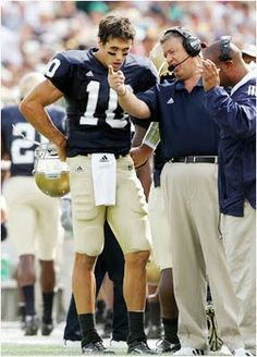 Brady Quinn and Charlie Weis. I wish Brady got to play under Kelly. Could you imagine the possibilities?!?!