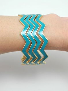 Turquoise Chevron Bracelets - $15.00 : FashionCupcake, Designer Clothing, Accessories, and Gifts