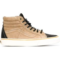 757ede7185fb9d Vans Sk8 Hi-Top Sneakers (€96) ❤ liked on Polyvore featuring shoes · Beige  SneakersBlack Leather ...