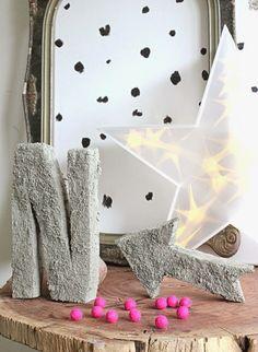 #DIY sponge #concrete letters... #diyconcrete #craft #howto