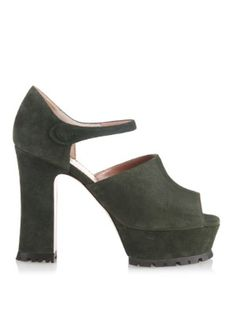 0287cb1bd110 Suede platform Mary Jane sandals