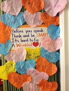 Bulletin board idea to help with bullying prevention and kindness. Classroom Behavior, Future Classroom, Classroom Management, Classroom Ideas, Social Emotional Learning, Social Skills, Beginning Of School, First Day Of School, Middle School